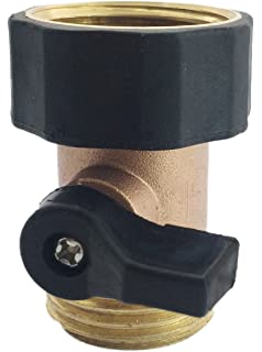 Amazoncom Gilmour 03V Brass Garden Hose Connector with Shut Off