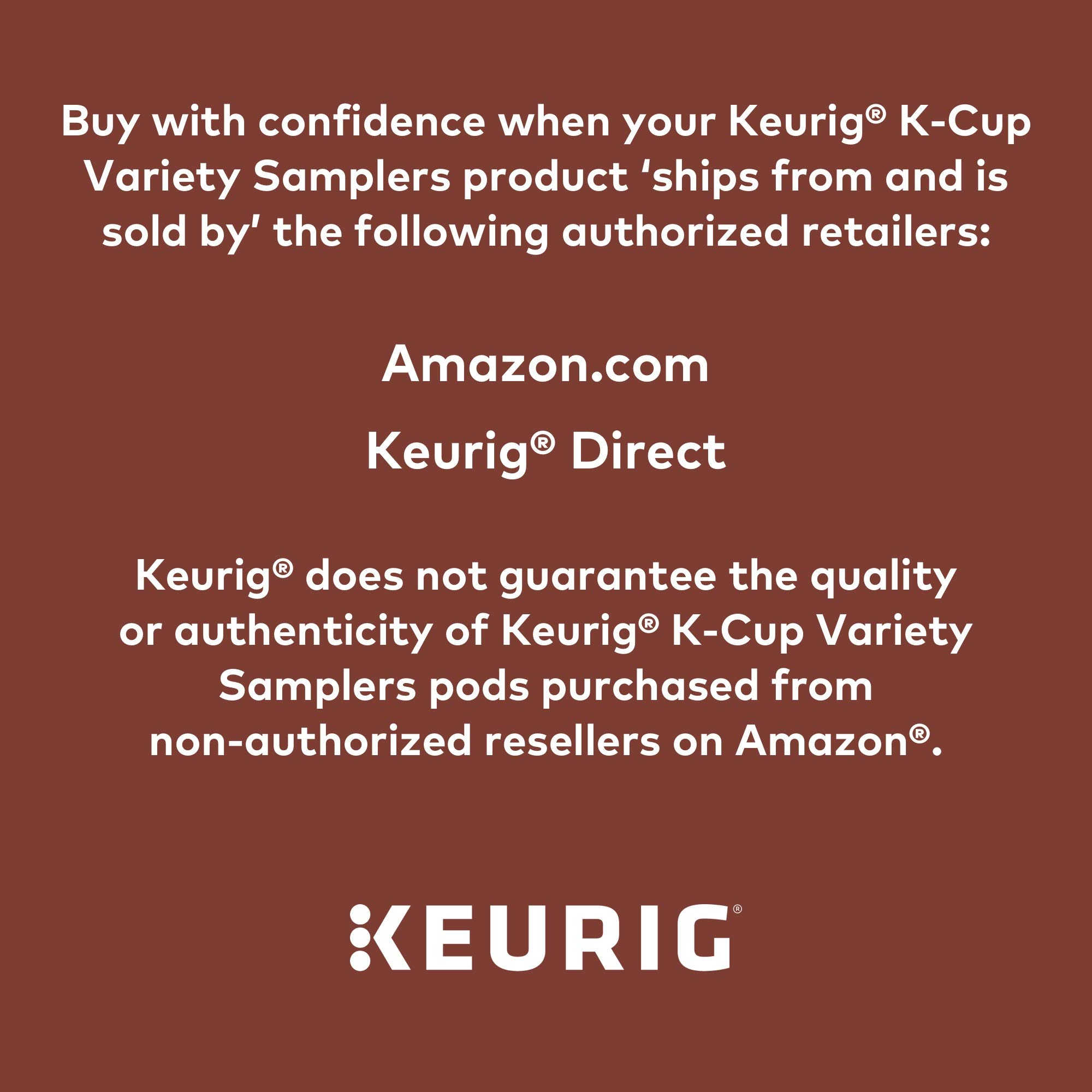Keurig Coffee Lovers' Collection Variety Pack, Single Serve K-Cup Pods, Compatible with all Keurig 1.0/Classic, 2.0 and K-Café Coffee Makers, 100 Count by Variety (Image #8)