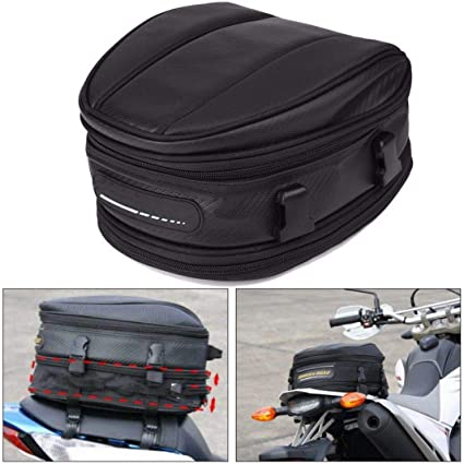 Borsa posteriore moto Borsa da sella casco Borsa da sella moto impermeabile Borsa da sella moto