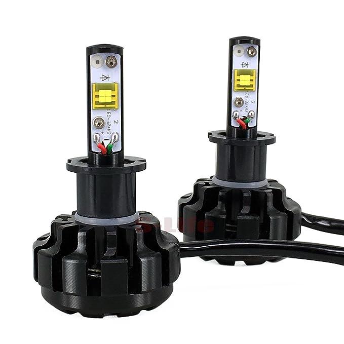 8 - 48 V 9600lm Turbo LED 40 W COCHE LED Headlight Lámpara Kit de conversión Super brillante bombillas 2 años de garantía (H3): Amazon.es: Coche y moto
