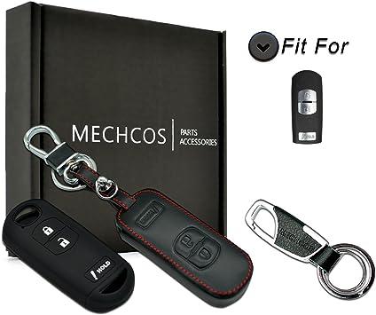 Coolbestda 2Pcs Rubbber 3buttons Smart Key Fob Cover Case Protector Keyless Skin Jacket Holder for Mazda 3 6 CX-3 CX-5 CX-7 CX-9 WAZSKE13D01