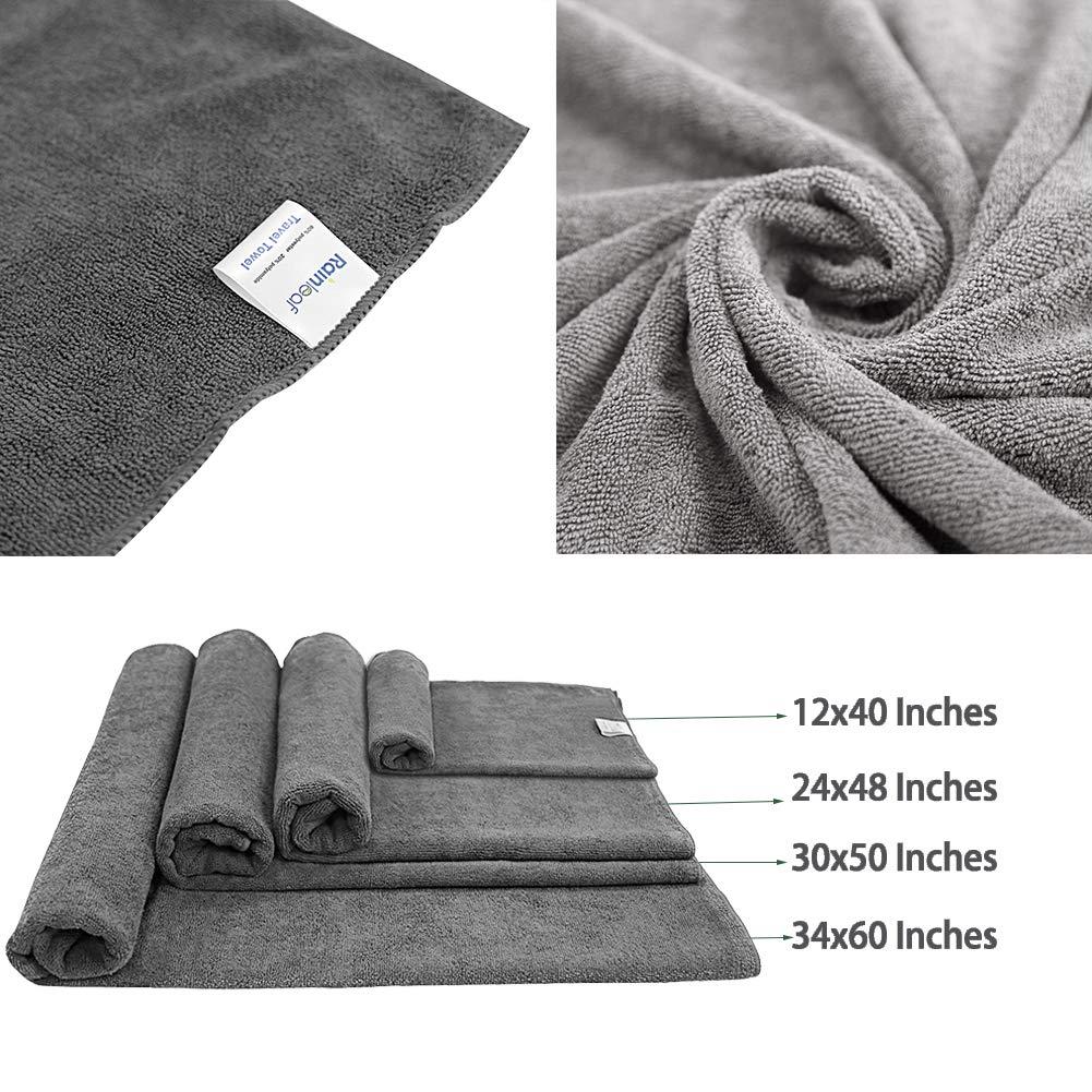 Lightweight Rainleaf Travel Towel,Perfect Dry Towel,Microfiber Bath Towel,Swimming Towel,Backpacking Towel,Microfiber Towels for Body,Absorbent-Ultra Compact-Soft