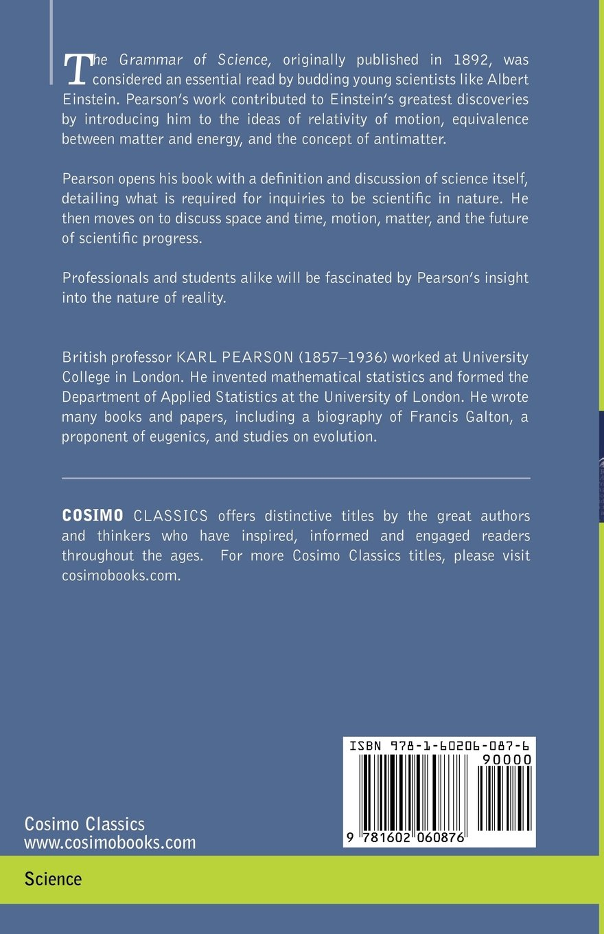 The grammar of science karl pearson 9781602060876 amazon books fandeluxe Image collections