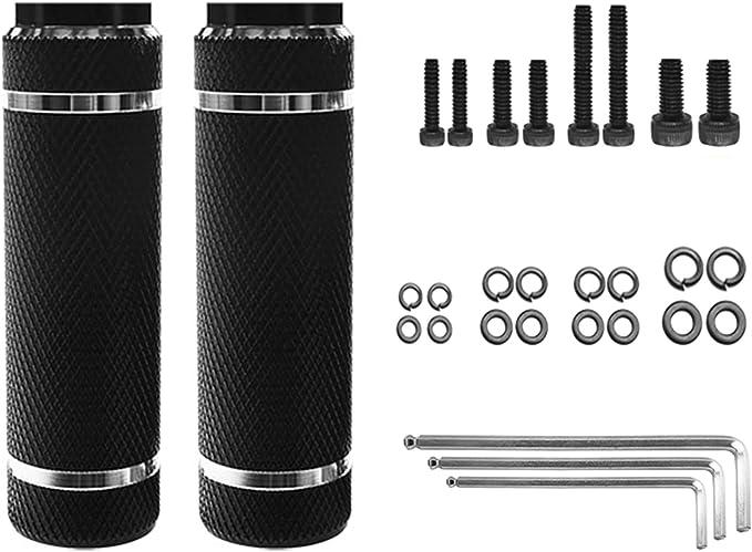 X AUTOHAUX Pair Axle Rear Foot Pegs for BMX MTB Bike Fit 3//8 Inch Axles Purple