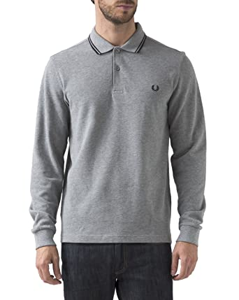 32f59be1a Amazon.com  Fred Perry Men s Long Sleeve Twin Tipped Shirt  Clothing