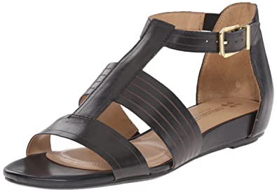 Naturalizer Womens Longing Leather Open Toe Casual TStrap Black Size 60