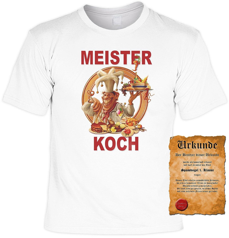 Faszinierend Meister Koch Galerie Von Witziges Spaß-shirt + Gratis Fun-urkunde: Koch: Concept.de: