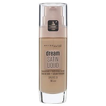 Maybelline Dream Satin Liquid - 30 Sandy Beige - Foundation base de maquillaje Frasco dispensador Líquido