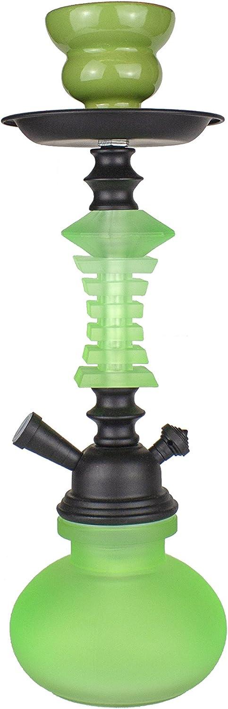 PAIDE P Cachimba de diseño Premium - 27cm - Shisha Cristal - Kit de iniciación Premium (Verde)