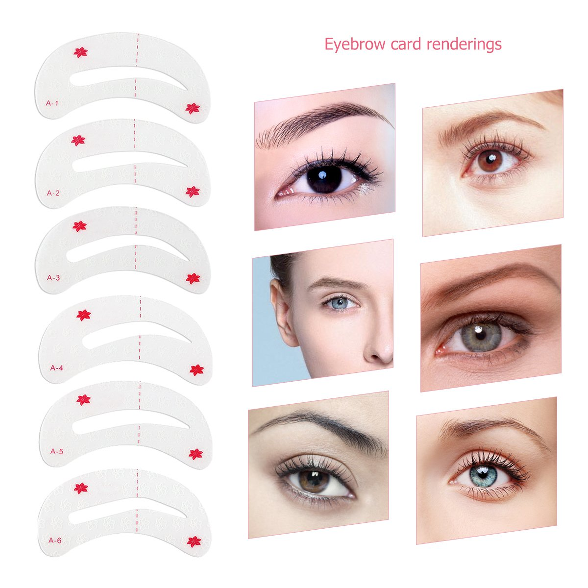 Amazon Winomo Eyebrow Stencils Kit Soft Magic Easy Makeup