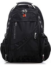 "Wenger Swissgear 15.6"" Laptop Backpack Bag W/Mp3 Headphone Connection Sa1418"
