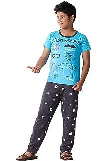 2d27d782d9c Ginessa Boys Half Sleev Multi Colour Cotton top Bottom Printed Night ...