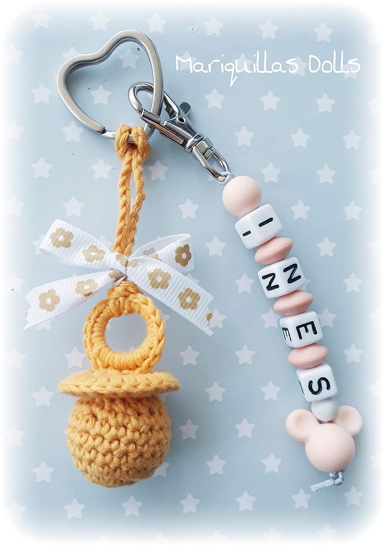 Chupete a crochet PERSONALIZADO