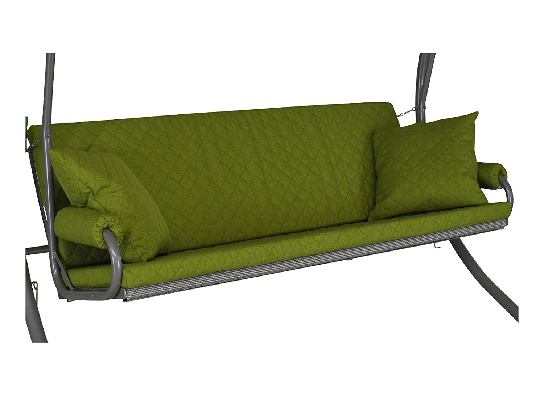 Angerer 42022/209 Elegance Joy Schaukelauflage, 3-Sitzer Design, apfel grün
