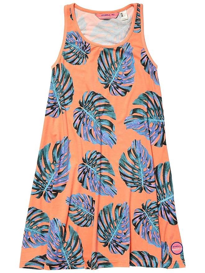 mädchen kleid palmenmuster