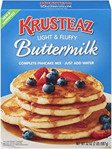Krusteaz Light & Fluffy Buttermilk Pancake Mix - No Artificial Flavors, Colors or Preservatives - 32 OZ (Pack - 2)