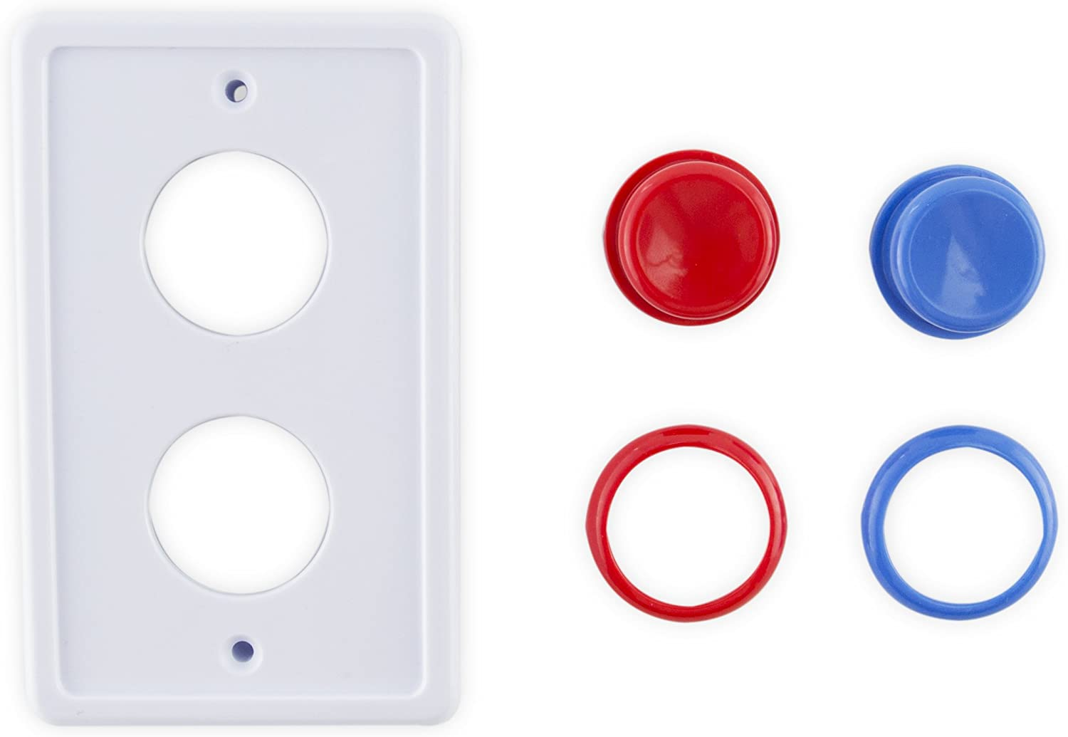 Arcade Light Switch Plate White//Red//Blue Single Switch
