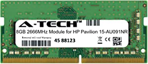 A-Tech 8GB Module for HP Pavilion 15-AU091NR Laptop & Notebook Compatible DDR4 2666Mhz Memory Ram (ATMS308389A25978X1)