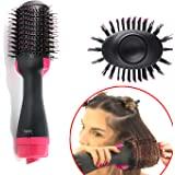 One Step Hair Dryer Volumizer Styler, ManKami Salon Hot Air Paddle Styling Brush Negative Ion Generator Hair Straightener Curler for All Hair Types