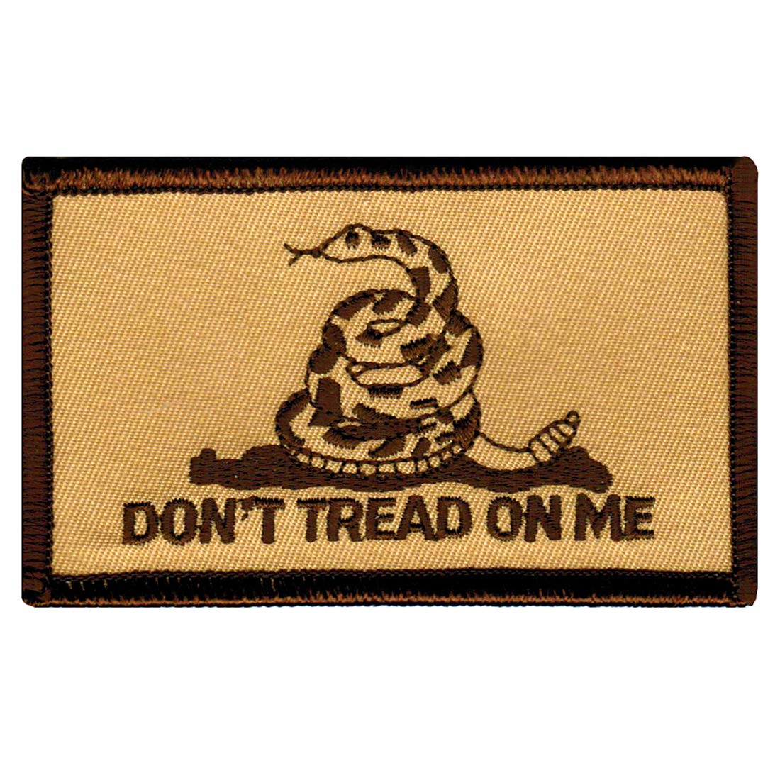 Gadsden Flagタン刺繍パッチないTread On MeアイロンAmerican Subdued   B003RYK3US
