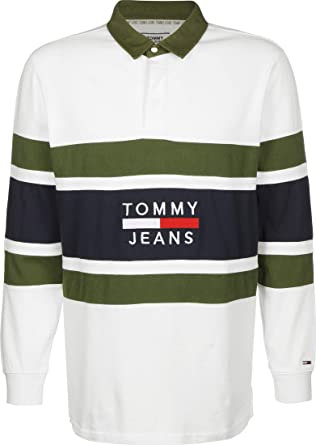 Tommy Jeans Panel Rugby - Polo de Manga Larga: Amazon.es: Ropa y ...