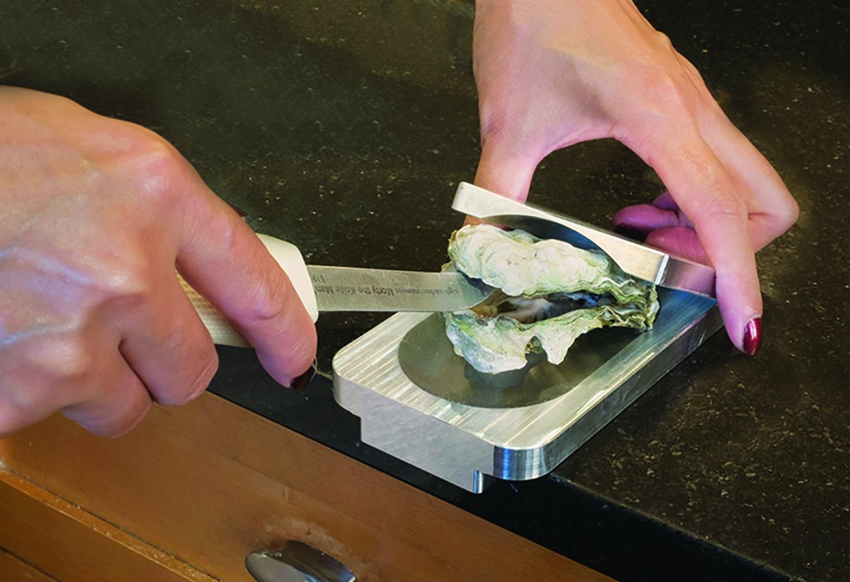 Solid Aluminum Construction; Dishwasher Safe The Easy Oyster Opener Shucking Tool
