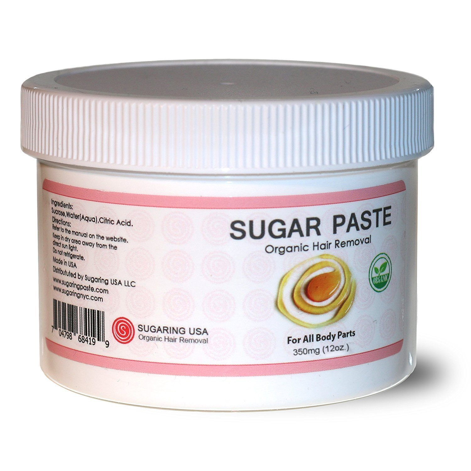 Sugaring Paste for Bikini, Legs, Brazilian, Arms and Back - 12oz by Sugaring NYC
