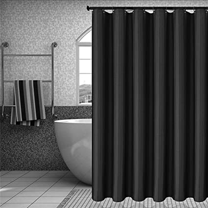Gray Fabric Shower Curtain 78 Inches Long Heavyweight Mould And Mildew Resistant Extra