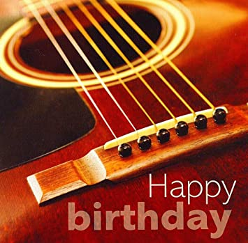 Acoustic Guitar Happy Birthday Card Amazonca Musical Instruments Stage Studio