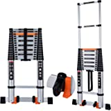 Telescoping Ladder Extension Multi-Purpose 18.5 FT Aluminum Foldable Industrial Compact Loft Ladder Household Daily or…