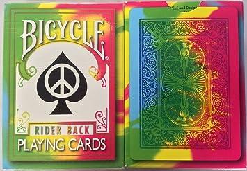 Bicicleta Tie Dye cubierta naipes Tye Die magia rara Bicycle ...