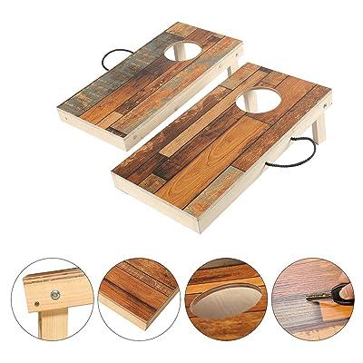 OOFIT Solid Wood Premium Cornhole Toss Game Set