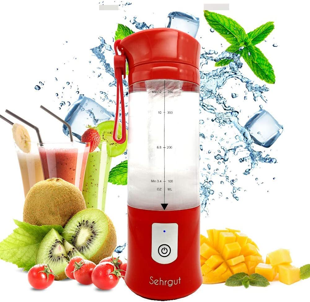 Sehrgut Portable Personal Smoothie Blender,USB Wireless Mini