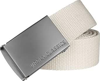 Urban Classics Unisex bälte för kvinnor och män canvasbälte, längd 120 cm, höjd 3,7 cm, robust tyg, stabilt spänne