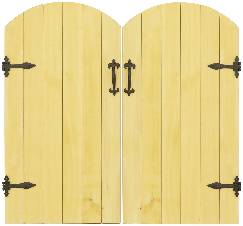 天然木製 イエローシダー 両開きドアセット MWG-DOOR2SIDE-GT B07BYJ6PHY 15900