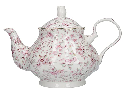 10 opinioni per KATIE ALICE White Ditsy Floral SHABBY CHIC Bone China 6 Cup TEA POT