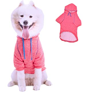Leowow Dog Sports Clothes Dog Winter Coat Dog Hoodie Puppy Sweater Pet Hoodie for Medium or