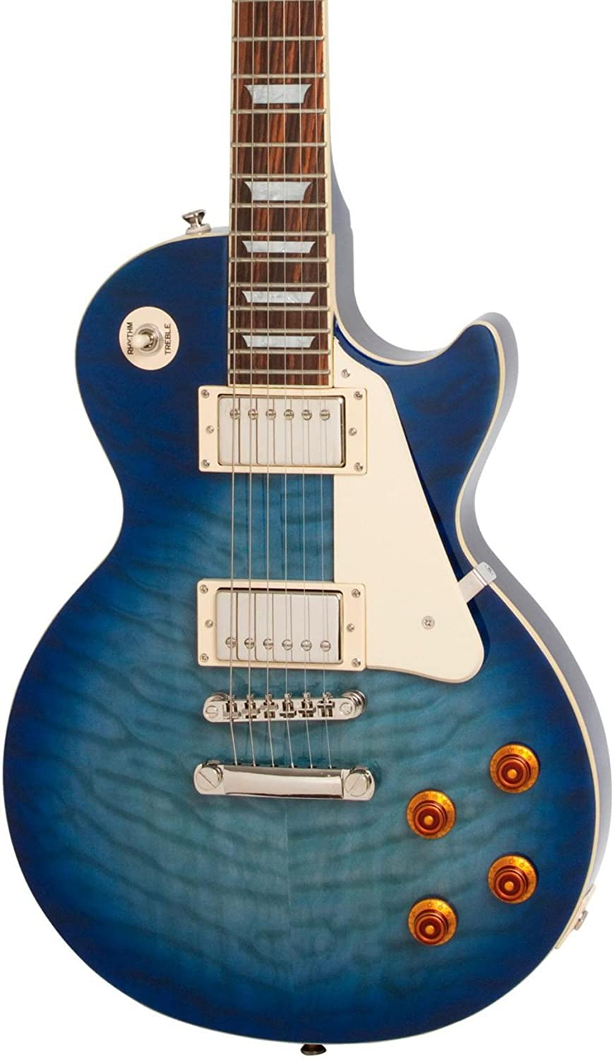 Epiphone Les Paul STANDARD PLUS-TOP PRO Electric Guitar with Coil-Tapping Translucent Blue