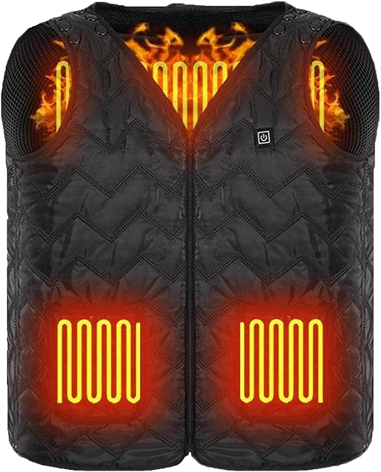 GULE GULE Unisex Warming USB Charging Heated Vest Adjustable Size with Zipper Suitable for Outdoor