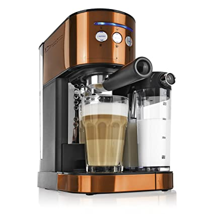 Máquina de espresso, versión 2017, de Barista. Potencia: 1470 W. Con