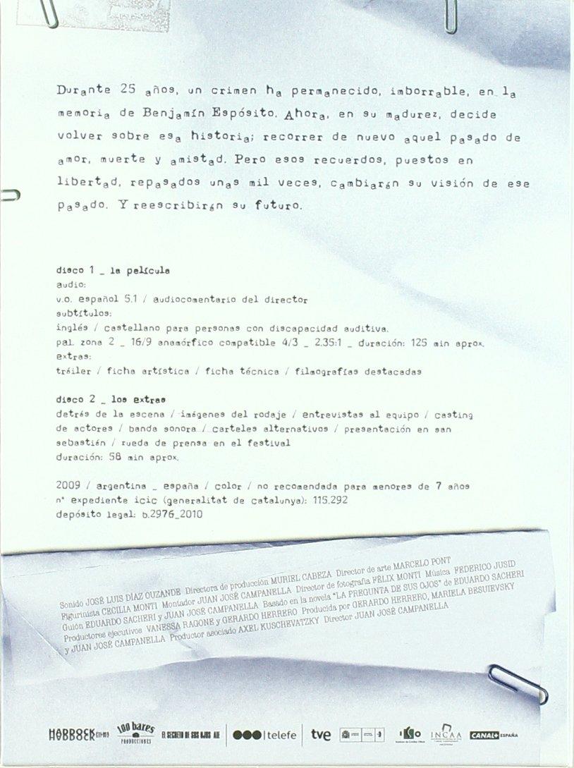 Amazon.com: El Secreto De Sus Ojos (Ed. Especial) (2009) (Non Us Format) (Region 2) (Import): Movies & TV