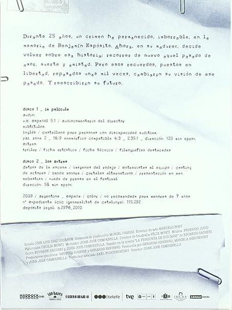 Amazon.com: El Secreto De Sus Ojos (Ed. Especial) (2009 ...