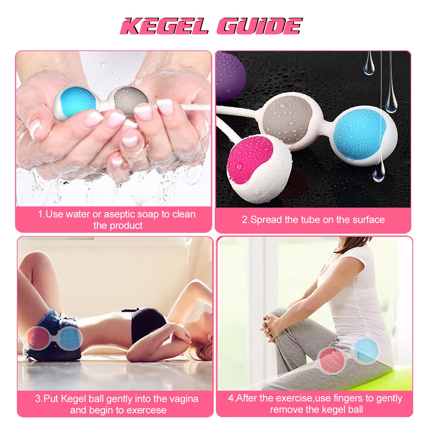 Amazon Com Kegel Exercise Weights Adorime Ben Wa Kegel Balls Weighted Exercise Kit For Beginner Doctor Recommended For Women Girls Bladder Control