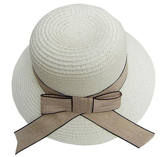a48f5ff1da867 Women Sunhat for Big Head Wide Brim Straw Hat with Bowknot for Beach ...