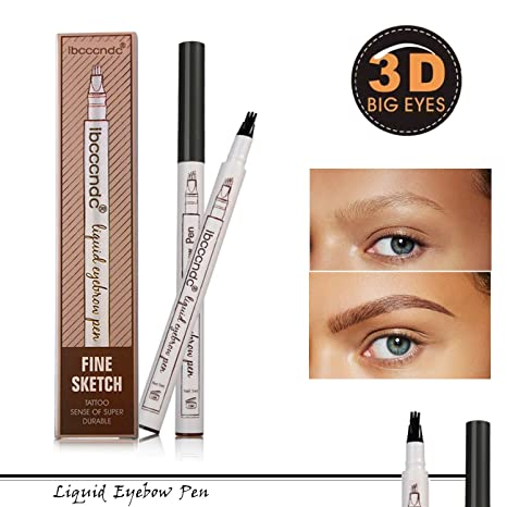 58641dc51 Natural Tattoo Eyebrow Pen Waterproof Colores para cejas Brow Gel para maquillaje  cejas Duradero Eyebrow Pencil
