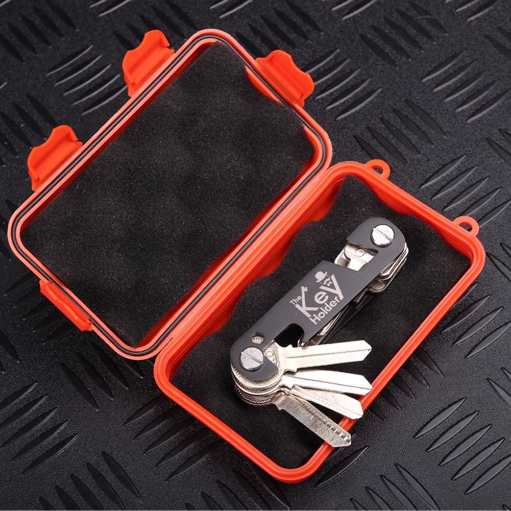 Yalatan Port/átil EDC Organizador de llaves Llavero de aluminio Titular de la clave Organizador Clip Carpeta Colector de almacenamiento de llaves al aire libre