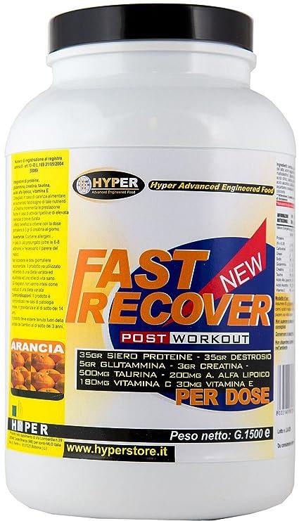 Fast Recover ideal para una buena recuperación muscular. Par: Whey Protein (Suero de