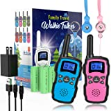 Wishouse Rechargeable Walkie Talkies for Kids with Charger Battery,Family Two Way Radio Long Range,Outdoor Game Camping…