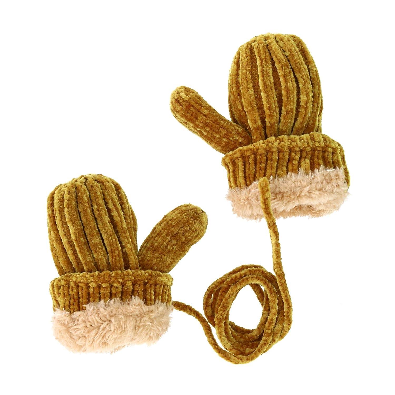 Navy Angela /& William Kids Chenille Knit Beanie Cuff Cap with Matching Mittens Set