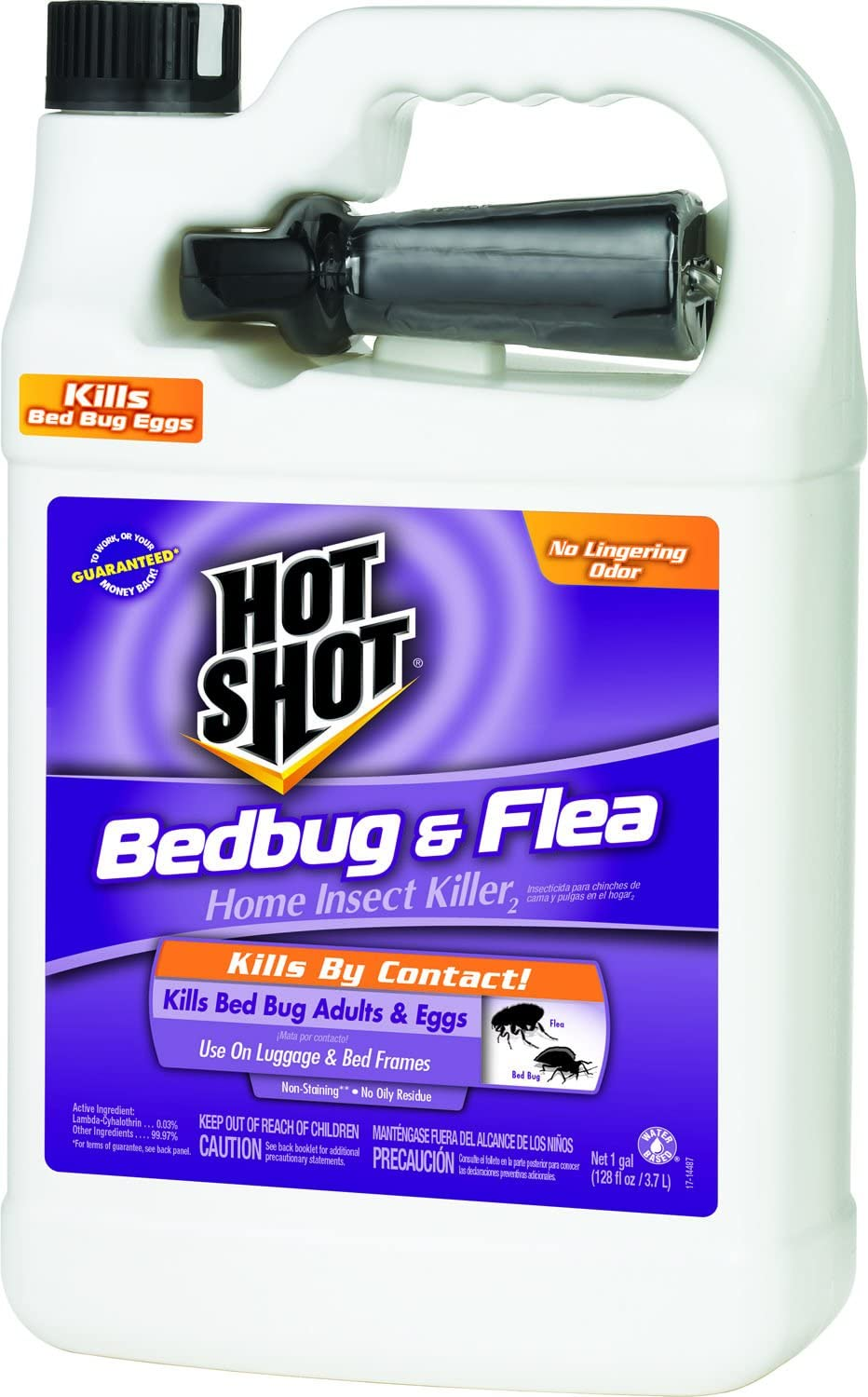 Hot Shot Bedbug & Flea Home Insect Killer2 (Ready-to-Use) (HG-96190) (Pack of 4)